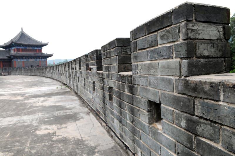 Le mur antique chinois image libre de droits