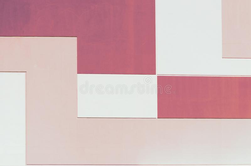 Le mur au pastel deux colorent, fond abstrait géométrique, forme rectangulaire images libres de droits