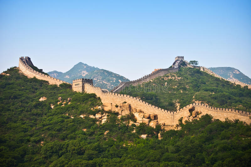 Le mur chinois photographie stock