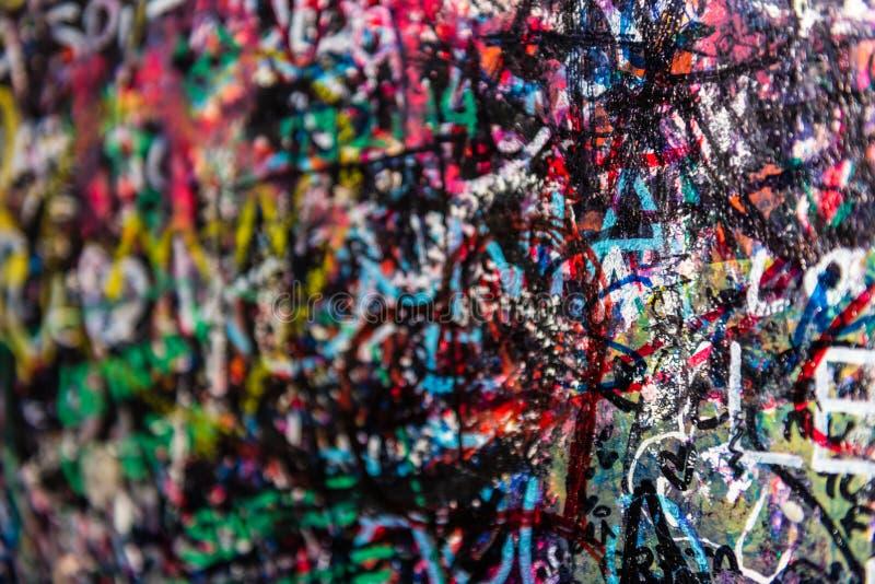Le mur complètement des messages, Vérone, Italie images libres de droits