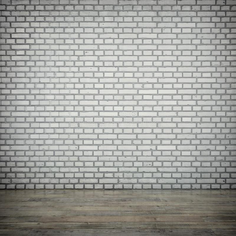 Le mur de briques blanc photo stock