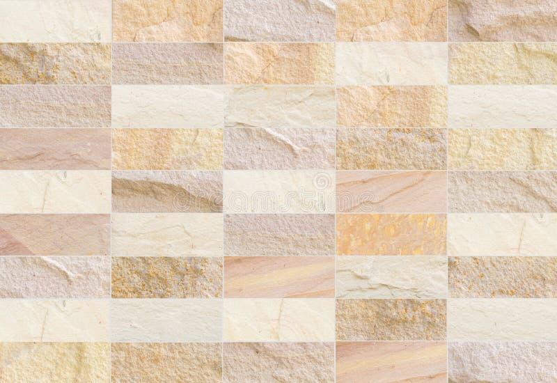 Le mur de briques de grès a modelé le fond de texture (de modèles naturels) photographie stock libre de droits