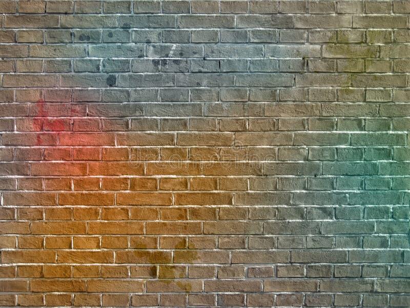 Le mur de briques de graffiti images stock