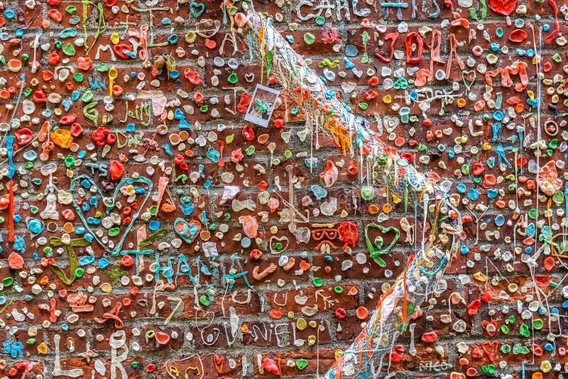 Le mur de gomme à Seattle photo libre de droits