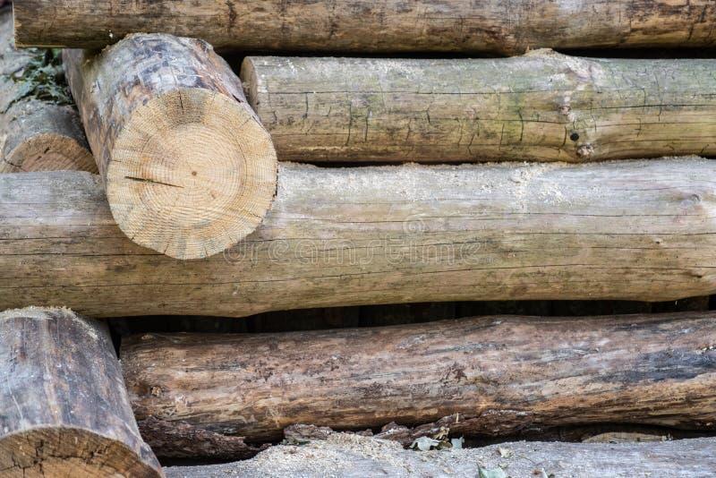 Le mur de la cabane en rondins, le mur des rondins images stock