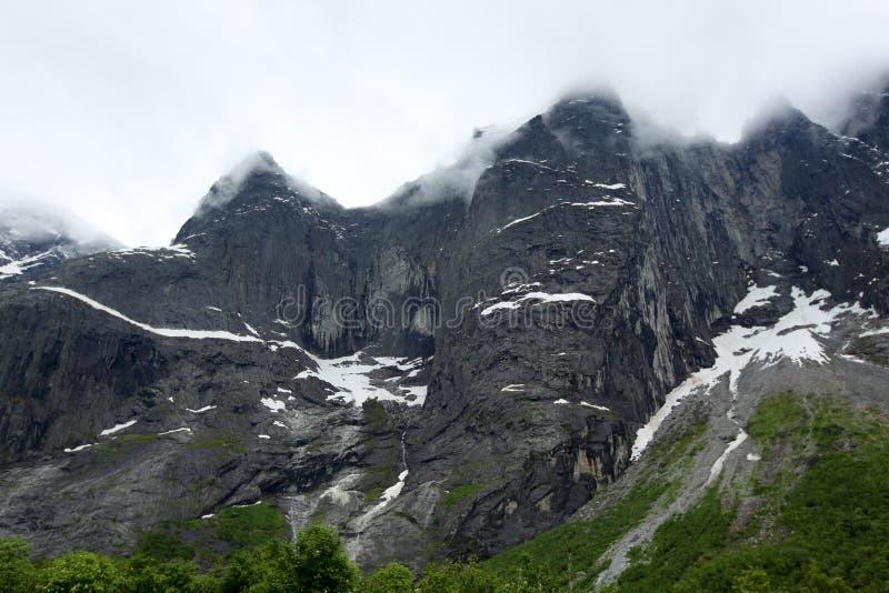 Le mur de Troll en Norvège images stock