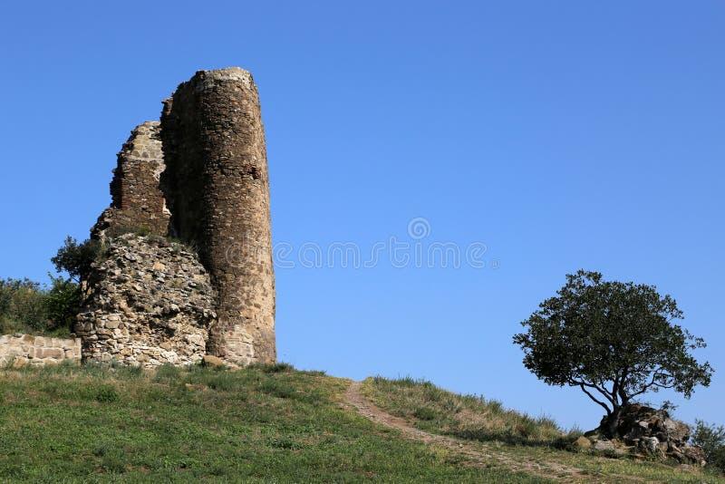 Le mur du monastère de Jvari photo libre de droits