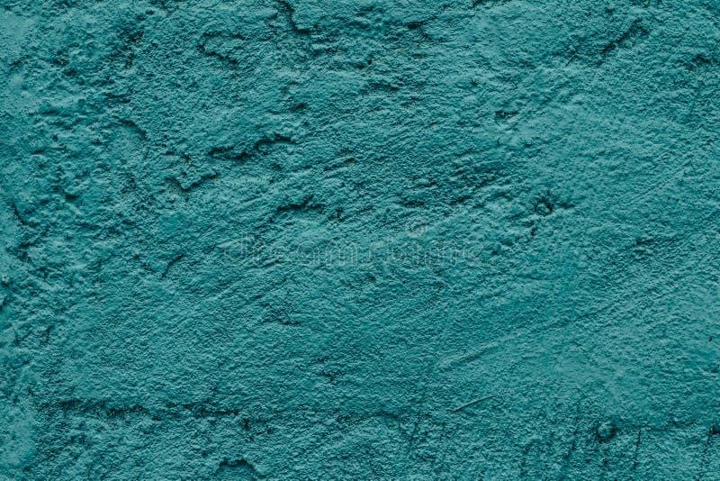 Le mur en béton a peint la turquoise pour la conception décorative Fond approximatif abstrait de texture FOND TEXTURISÉ GRUNGE BL image libre de droits