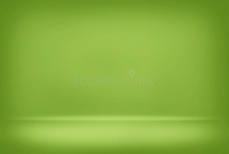 Le mur lisse de gradient de couleur de fond brouillé par vert abstrait peut concept créatif utilisé images stock