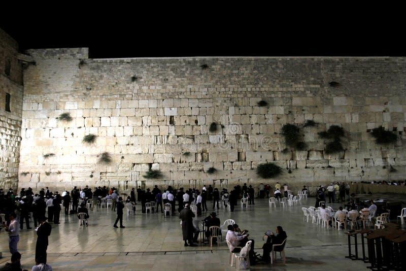 Le mur pleurant la soirée photographie stock libre de droits