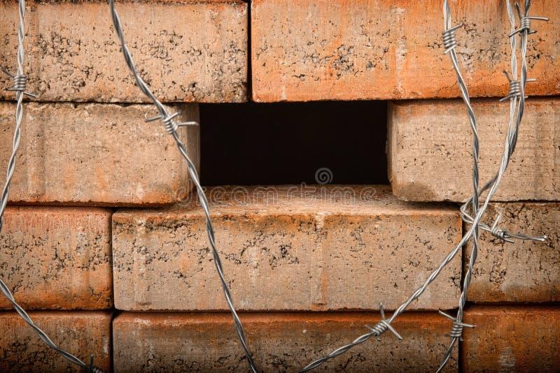 Le mur, un concept d'immigration photos stock