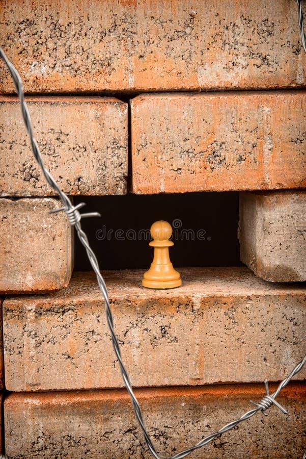 Le mur, un concept d'immigration images stock