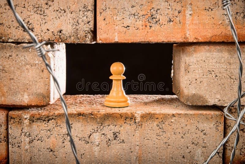 Le mur, un concept d'immigration photo stock