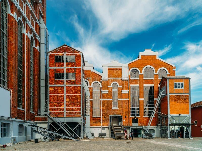 Le Musée d'Art, l'architecture et la Technology Museu de Arte, l'Arquitetura e Tecnologia ou le MAAT est la Science et un projet  image libre de droits