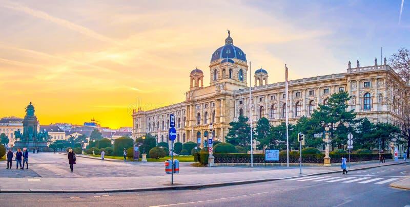 Le musée d'histoire naturelle de Vienne, Autriche photographie stock libre de droits