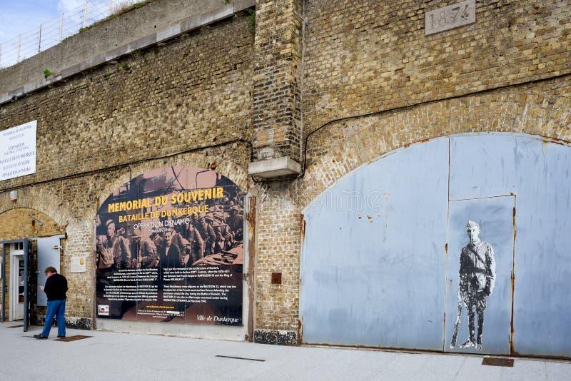 Le musée 1940 de Dunkerque montre la bataille de Dunkerque images stock