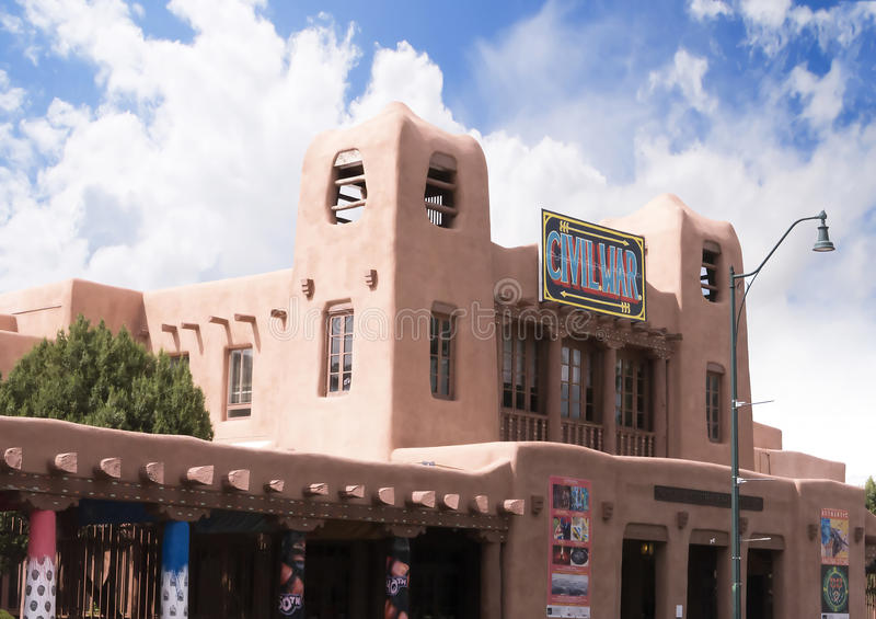 Le musée de guerre civile en Santa Fe au Nouveau Mexique s'est relié au développement de bombe atomique photographie stock libre de droits