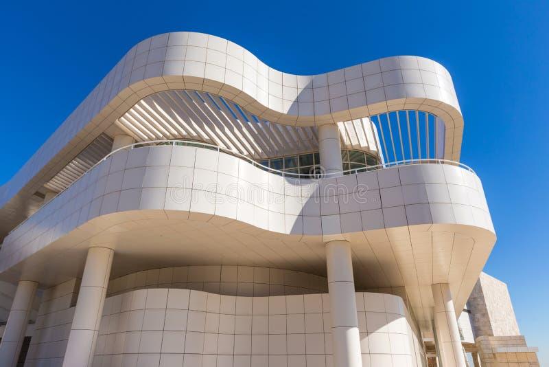 Le musée de J Paul Getty Museum à Los Angeles photographie stock libre de droits