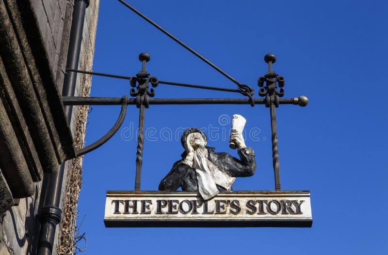 Le musée de l'histoire des personnes à Edimbourg photo stock