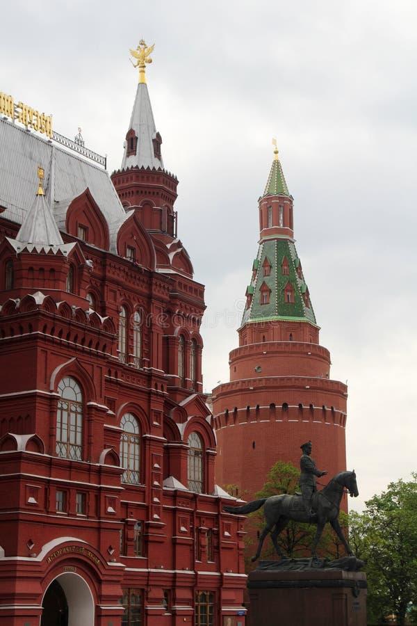 Le musée de l'histoire, place rouge, Moscou image libre de droits