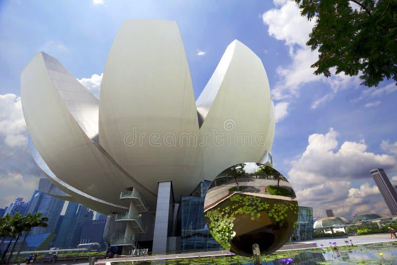 Le musée de la science et de l'art à Singapour photo stock
