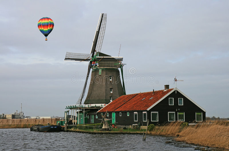 Le Musée De Moulin à Vent à Amsterdam Images stock