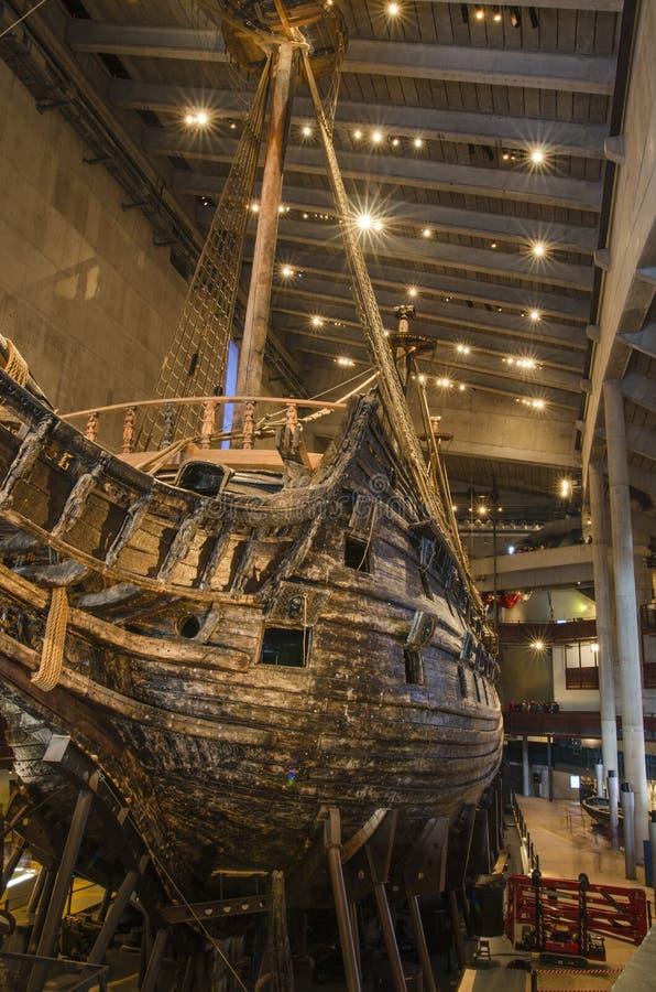 Le musée de Vasa à Stockholm Suède image stock