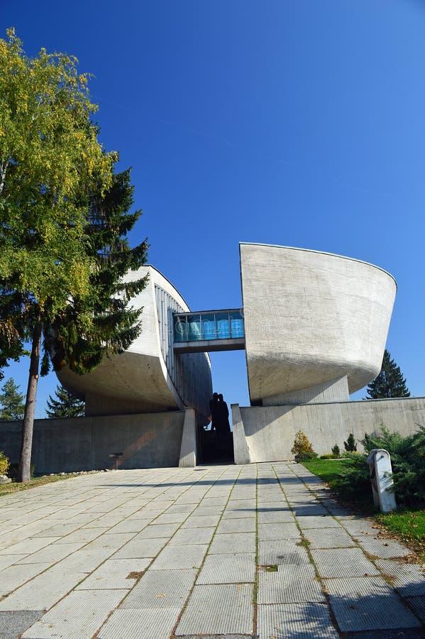 Le musée du soulèvement national slovaque SNP, Slovaquie images libres de droits