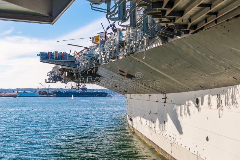 Le musée intermédiaire d'USS est un musée maritime photographie stock libre de droits