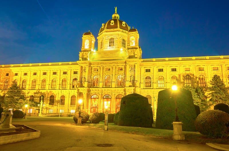 Le musée lumineux d'histoire naturelle à Vienne, Autriche image stock
