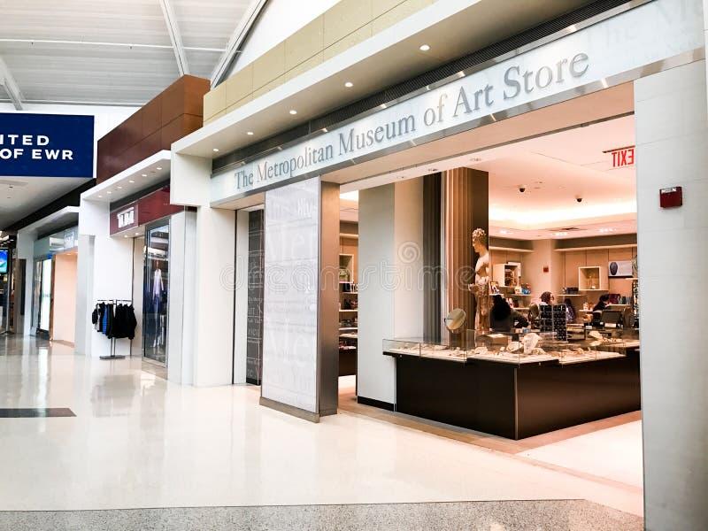 Le musée métropolitain d'Art Store à Newark Liberty International Airport photographie stock libre de droits