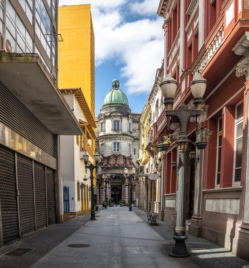 Le musée Museu de café font l'ancien café de café la bourse des valeurs que construisant Bolsa font le café - Santos, Sao Paulo,  photographie stock libre de droits