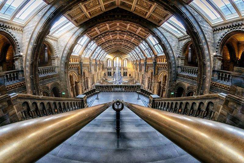Le musée national d'histoire à Londres, Royaume-Uni images libres de droits