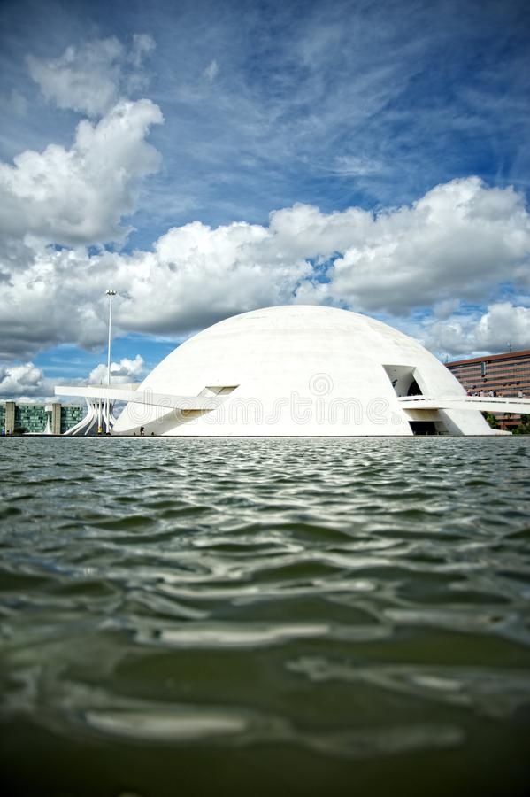 Le Musée National de Brasilia de la République photographie stock libre de droits