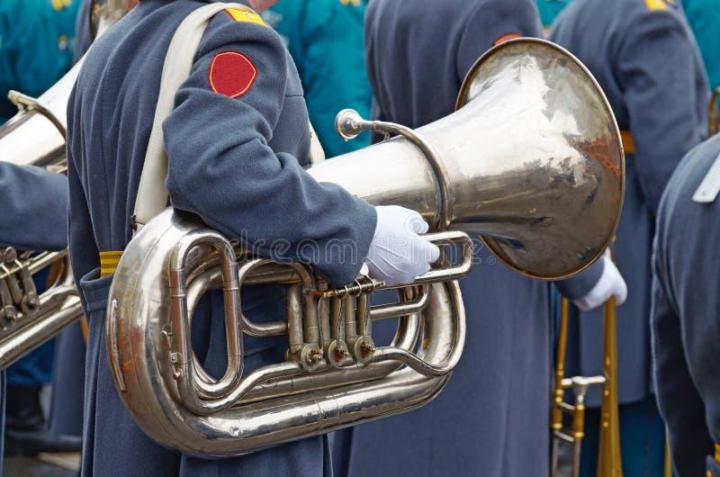 Le musicien de l'orchestre militaire photographie stock