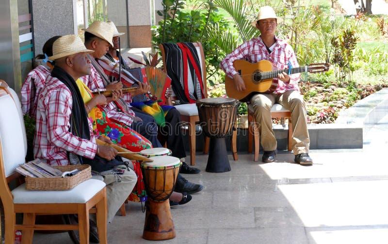 Le musicien du Madagascar joue la musique un jour ensoleillé photos stock