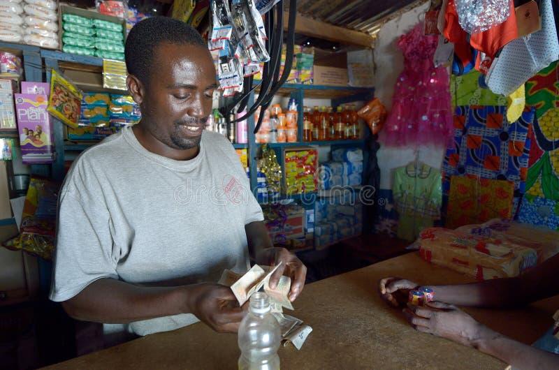 Le négociant africain photographie stock libre de droits