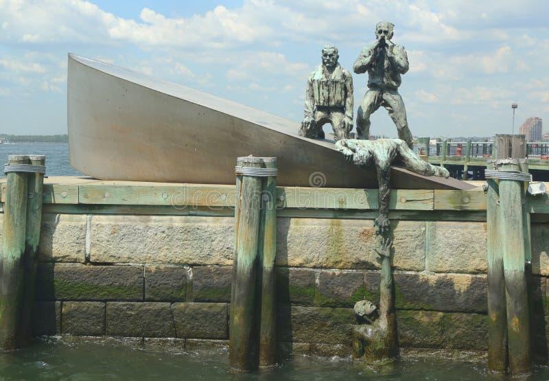 Le négociant américain Marines Monument dans Manha inférieur photographie stock