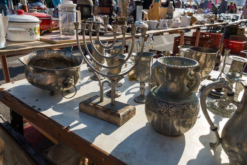 Le négociant Fair et le marché aux puces à Haïfa image stock