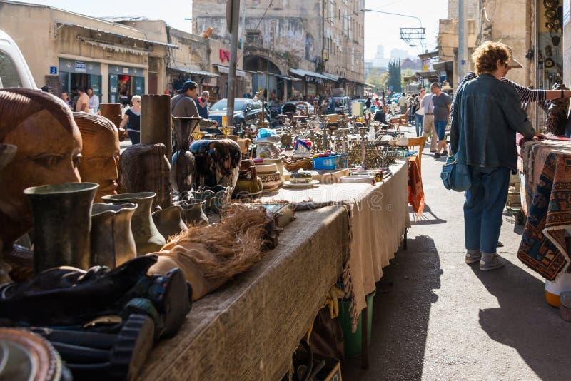 Le négociant Fair et le marché aux puces à Haïfa photographie stock
