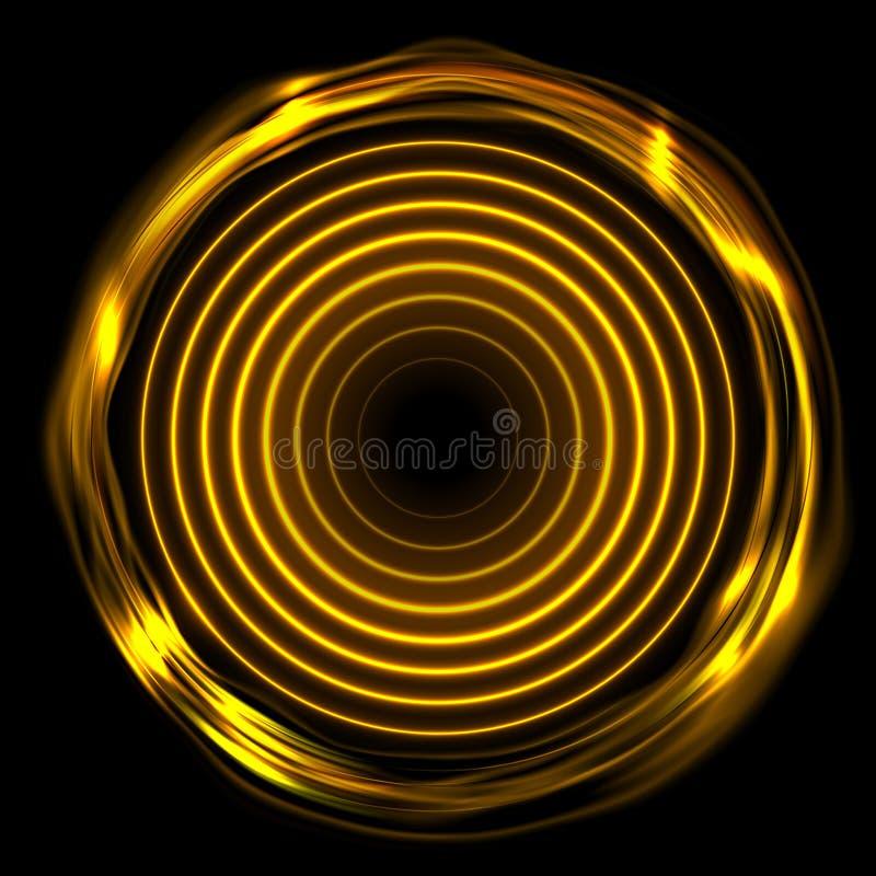 Le néon électrique rougeoyant orange ardent sonne le fond abstrait illustration de vecteur