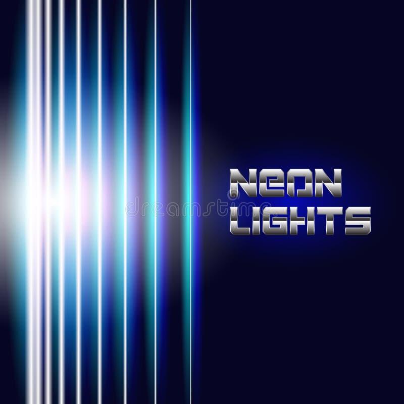 Le néon lumineux raye le fond illustration libre de droits