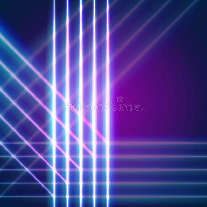 Le néon lumineux raye le fond illustration de vecteur