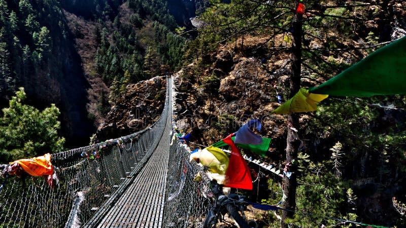 Le Népal, manière à Everest, pont images libres de droits
