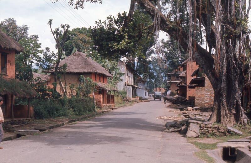 Le Népal. Rue d'Ouiet. photo stock