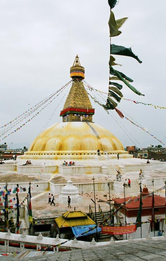 Le Népal, stupa Bodnath. image libre de droits