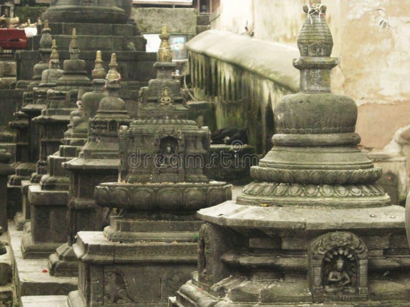 Le Népal - temple de singe image libre de droits