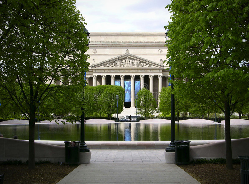 Le national archive le Washington DC, Etats-Unis images libres de droits