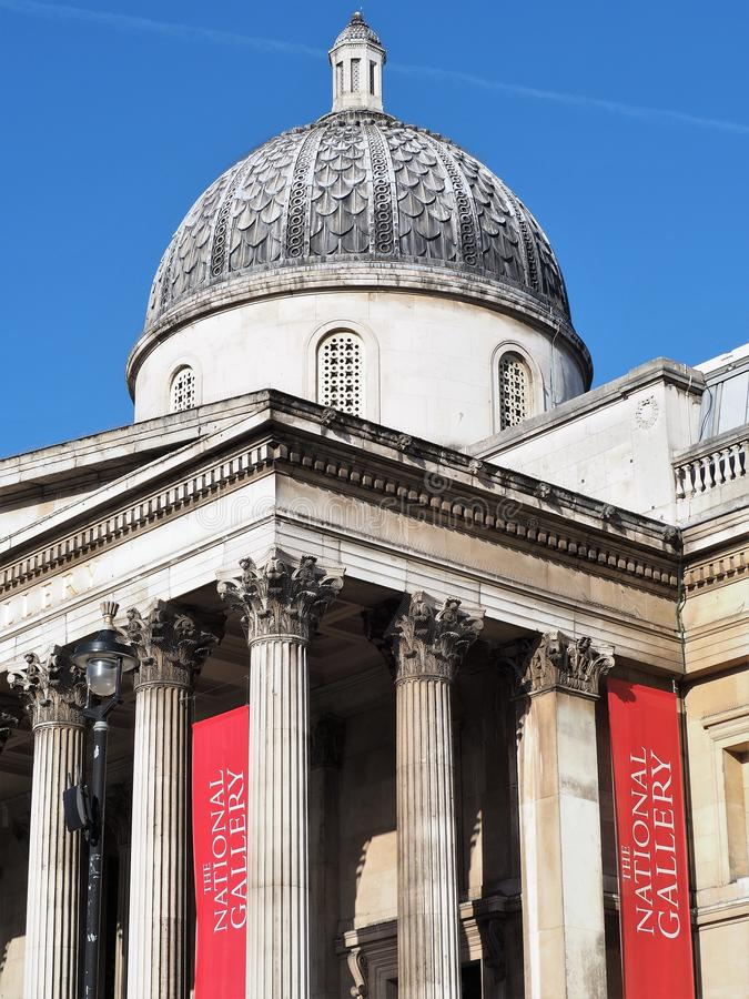 Le National Gallery Trafalgar Square Londres image stock
