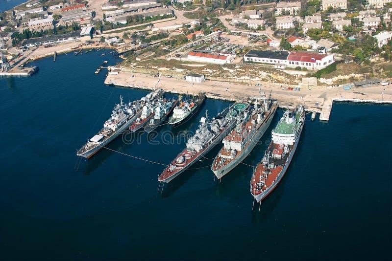 Le navi dei militari fotografia stock libera da diritti